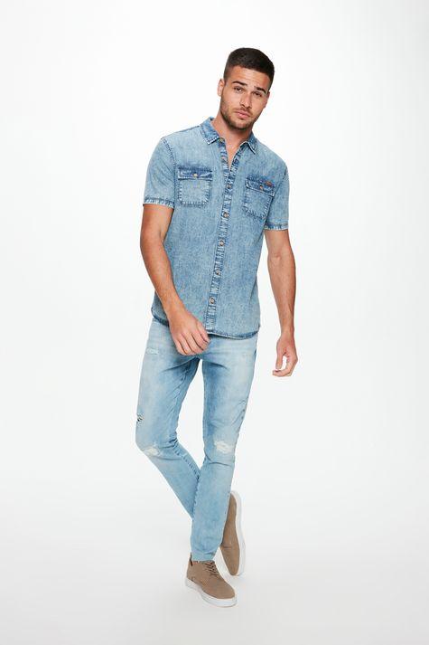 Camisa-Jeans-Manga-Curta-com-Bolsos-Detalhe-2--