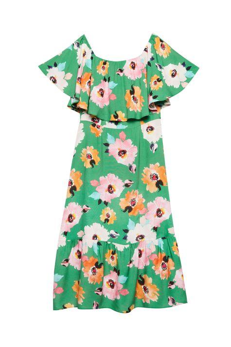 Vestido-Midi-com-Estampa-Floral-Verde-Detalhe-Still--