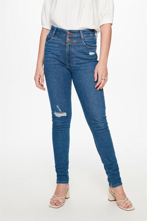 Calca-Jeans-Skinny-com-Recorte-Feminina-Detalhe--