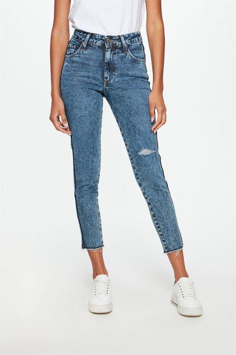Calca-Jeans-Marmorizada-Skinny-Desfiada-Detalhe--
