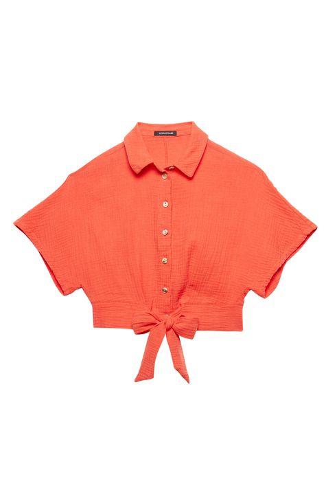 Camisa-de-Algodao-com-Amarracao-Detalhe-Still--