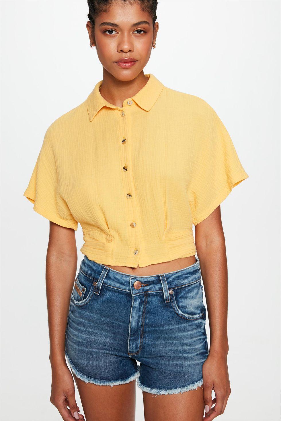 Short-Jeans-Medio-Curto-Justo-Desfiado-Frente--