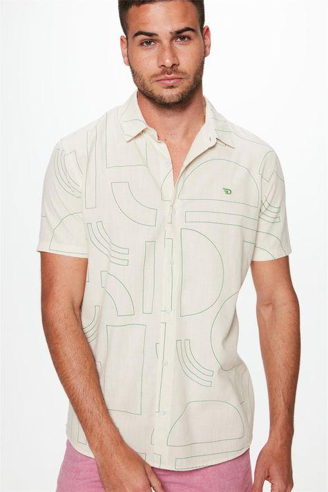 Camisa-com-Estampa-Geometrica-Masculina-Frente--