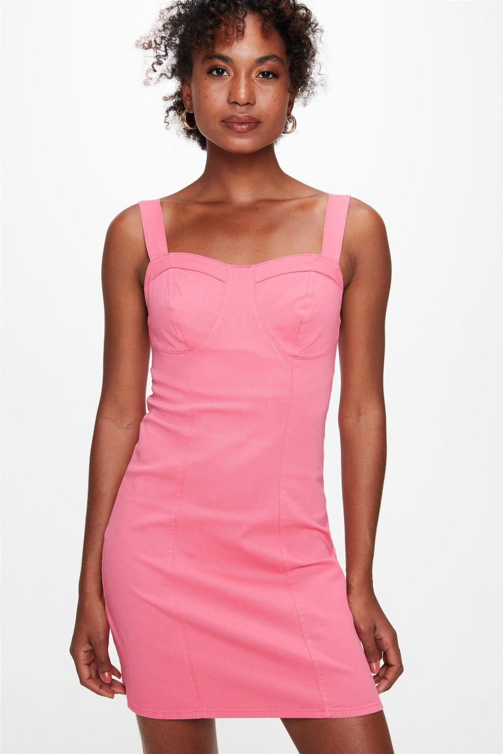 Vestido-Curto-de-Alca-com-Recortes-Rosa-Frente--