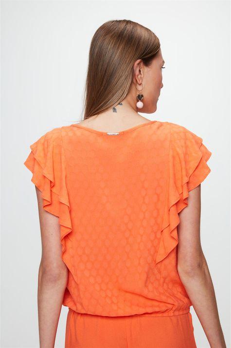 Blusa-Tecido-Plano-com-Textura-e-Babados-Costas--