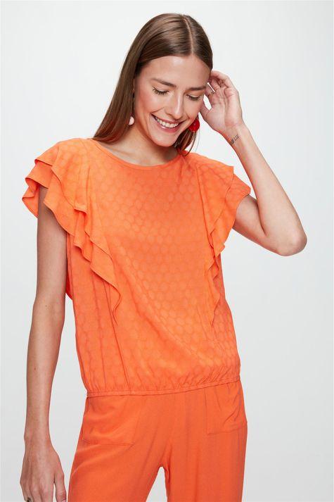 Blusa-Tecido-Plano-com-Textura-e-Babados-Frente--