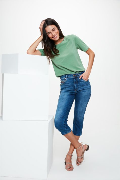 Calca-Jeans-Escuro-Capri-Cintura-Alta-Frente--
