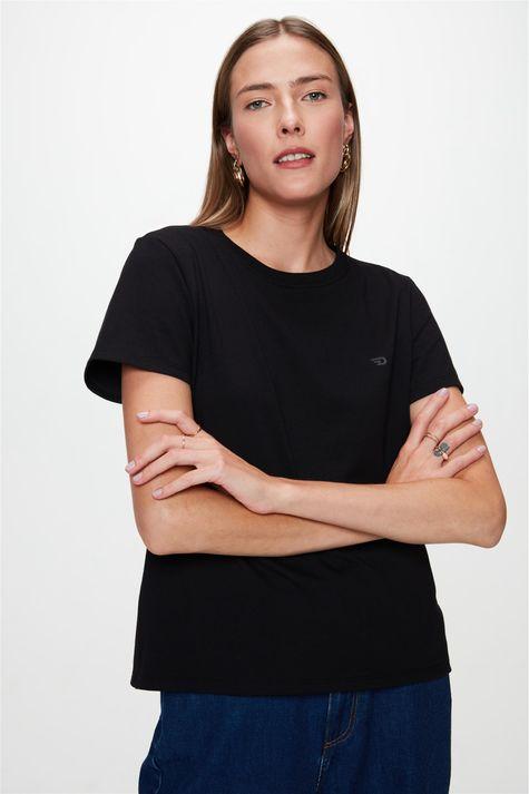 Camiseta-Lisa-com-Logo-Feminina-Frente--
