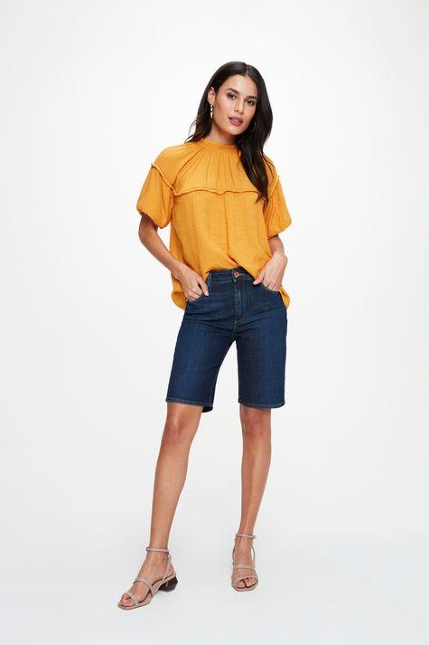 Bermuda-Jeans-Escuro-Justa-C25-Feminina-Frente--