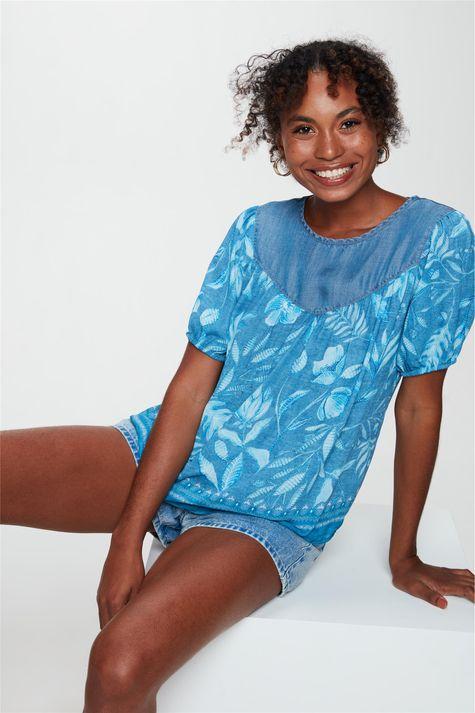 Blusa-Soltinha-Estampa-de-Folhas-Azul-Frente--