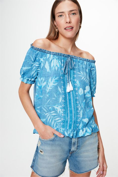 Blusa-Jeans-Ombro-a-Ombro-com-Estampa-Frente--