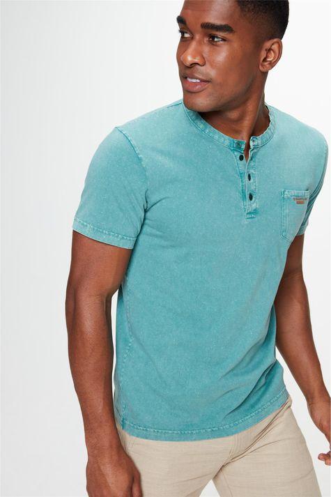 Camiseta-Tingida-Gola-Hanley-Masculina-Frente--